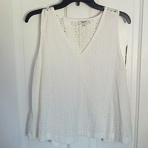 White patterned Madewell shirt